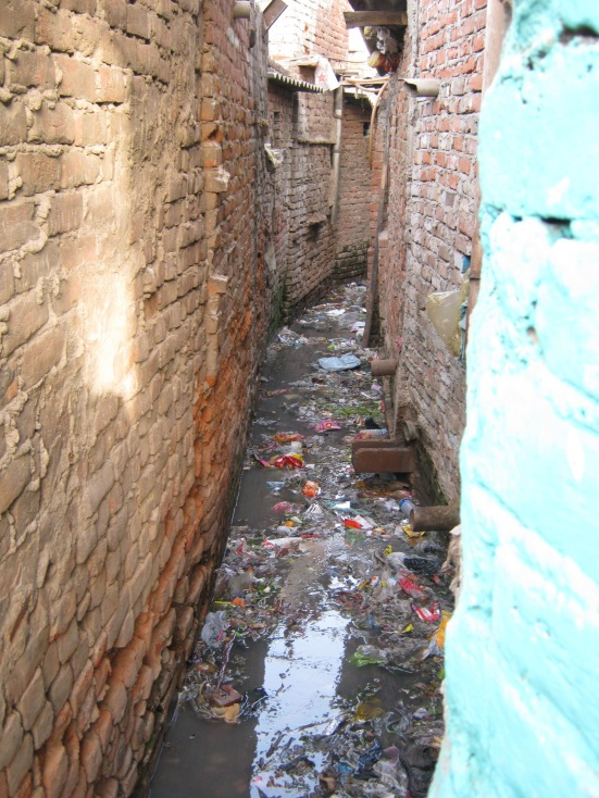 Lack of sanitation in slums – Jawaharlal Nehru Camp Delhi