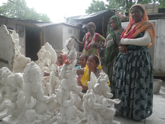 Sculptors in Gulbai Tekra Ahmedabad