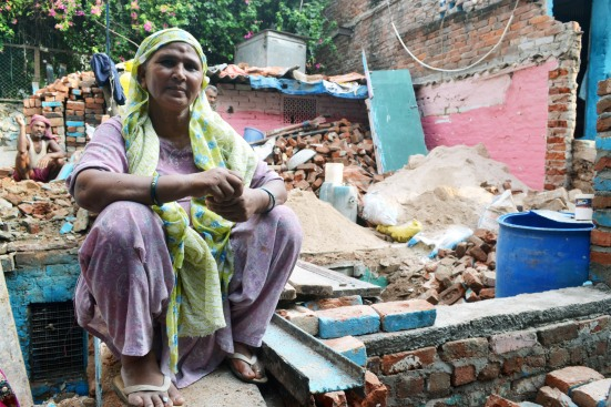 Akbari Begum at one of her construction sites